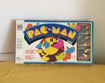 Pacman Board Game, Vintage Pac Man Game, 1980 Milton Bradley, Vintage Game, Vintage Board Game,