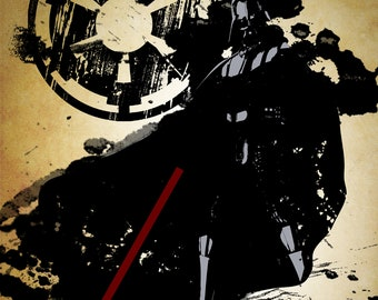 Star Wars Darth Vader Grunge Print