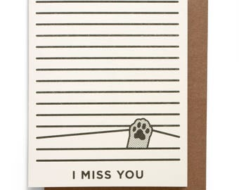 I Miss You Risograph Card