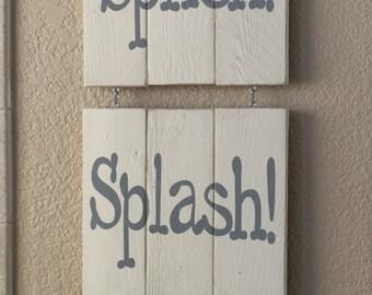 Splish Splash Bathroom Sign