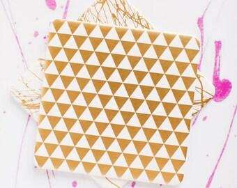 Modern Geometric, Triangle Pattern Coasters, 4 Ply, Cotton Blotting Paper, 4 inch, 10 CT.