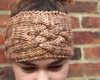 KNITTING PATTERN Cabled Criss Cross Headband/Earwarmer Womens Teenager Fashion Winter Accessory