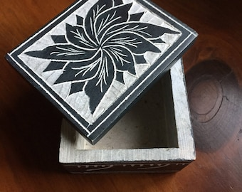 Soapstone, Hand Created Jewelry/Trinket Box