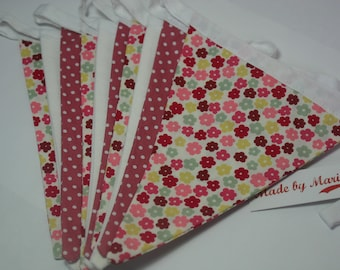 Floral cotton bunting