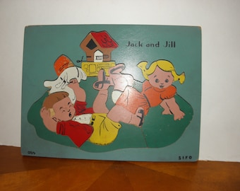 Jack and Jill Wooden Puzzle