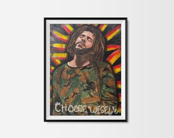 "16x20 ""Choose Wisely"" Original Acrylic Painting on Canvas"