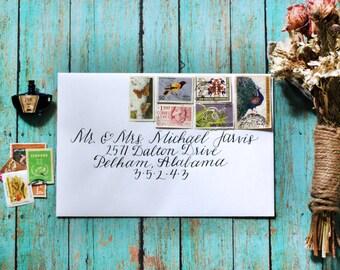 Custom Calligraphy Wedding Envelopes - Fancy Free
