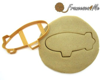 Blimp/Zeppelin Cookie Cutter/Dishwasher Safe Available