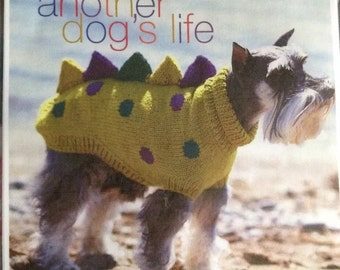 Vintage Pattern Dogosaurus Rex Dog Coat Knitting Pattern in 5 sizes