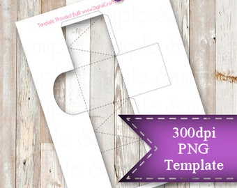"""INSTANT DOWNLOAD  Small Favor Box Template,  8.5""""x11"""" Transparent PNG"""