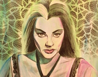 Lily Munster Painting Art Print The Munsters