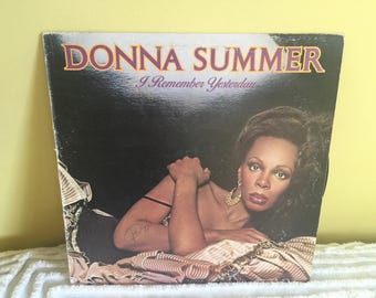 Donna Summer I Remember Yesterday Vinyl Record album GREAT CONDITION