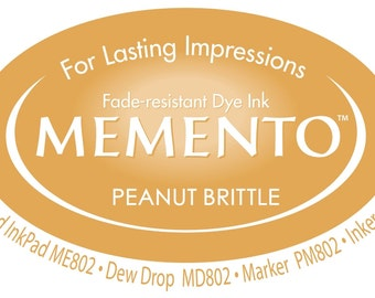 New Memento Full Size Ink Pad - PEANUT BRITTLE (Tan, Yellow-Brown) - Fade Resistant Dye Ink by Tsukineko
