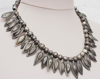 Antique Silver Turkmen nomadic  Tribal  necklace  from Afghanistan No:18/3