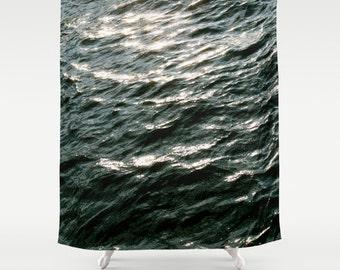 Shower Curtain, Waves, Ocean Shower Curtain, Beach Decor, Blue Shower Curtain, Ocean Decor, Nautical, Surf, Gifts for Boyfriend, Mens Gift