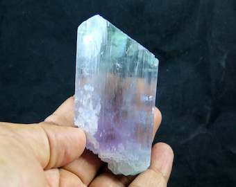 130.25 Grams Bi Color V Shaped Double Terminated & Undamaged Natural Kunzite Crystal from Afghanistan.