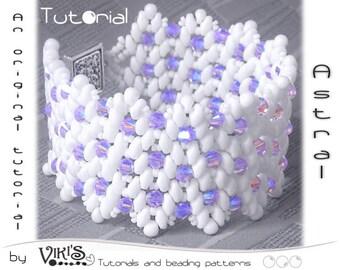 Bracelet Tutorial with Super Duo beads: Astral Beaded Bracelet - DIGITAL DOWNLOAD PDF