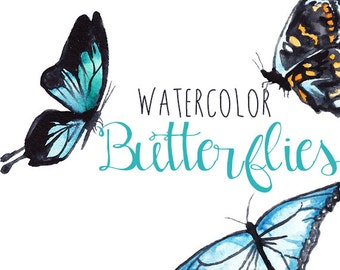 Watercolor Butterfly Clip Art Image Pack Clipart Digital Download Butterfly Clipart Scrapbooking Butterflies Digital