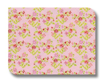 Floral paper napkin for decoupage, mixed media, collage, scrapbooking x 1. Small floral print. No. 1228 Primrose