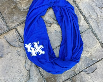 UofK University of Kentucky Infinity Scarf – light weight jersey material