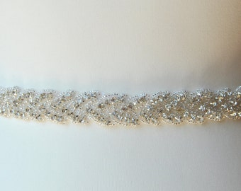 Stunning Crystal Bridal Sash,Wedding Dress Sash Belt,  Rhinestone Sash,  Rhinestone Bridal Bridesmaid Sash Belt, Wedding dress sash