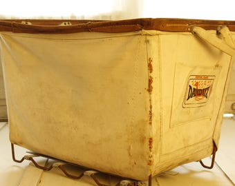 REDUCED- Vintage Dandux Laundry Cart,Industrial Equipment, Warehouse-Cart,Architectural Salvage, Industrial Laundry, Storage Basket