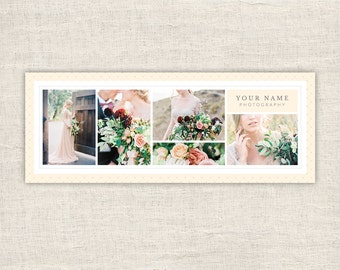 Facebook Timeline Cover for Photographers - Clean Photography Wedding Photoshop Template - Photo Banner  - Blog Header - INSTANT DOWNLOAD