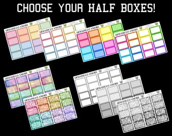 291 | Choose Your Own Half Boxes! {24 Fancy Matte or Glossy Planner Stickers}