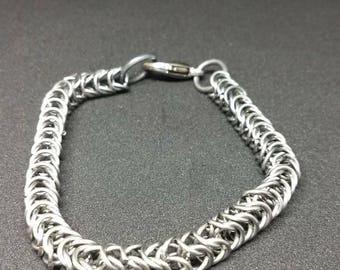 Men's Box weave chainmaille bracelet