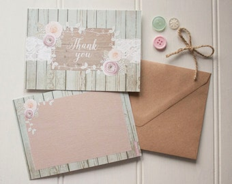 Ophelia Sage thank you cards x 10