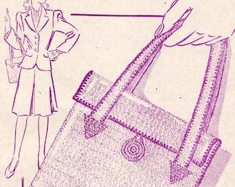 1944 crocheted handbag pattern PDF