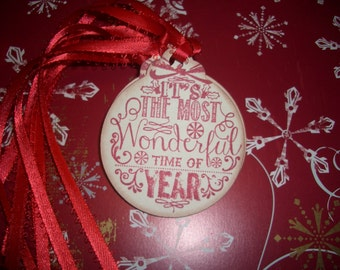 Christmas Ball Gift Tag - It's the most wonderful time of the year