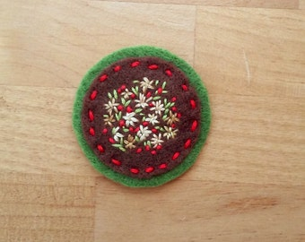 Autumn Floral Badge II (Patch, Pin, Brooch, or Magnet)