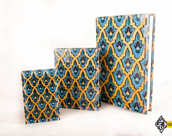 Hardcover Journal - Islamic 3D Pattern - Heavy Weight Paper - Hardcover Sketchbook