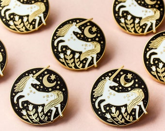 Unicorn Hard Enamel Pin Badge, Luxury Magic Unicorn Brooch