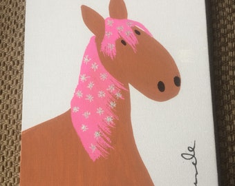 Sparkly horse painting