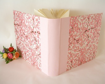 Photo album -  pink plum blossom chiyogami - 12x12in 30x30cm - Ready to ship