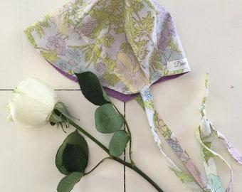 New!| Bonnet| Floral| Vintage Fabric| Baby| Toddler|