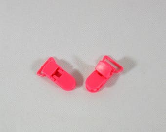 2 clips clip plastic clip-pacifier/Soother/blanket/ramp fuchsia