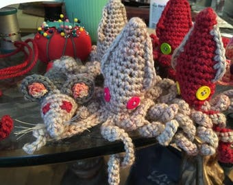 Cat Toy Squid OR Mouse Premium Catnip Filled Handcrafted Crocheted