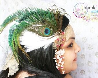Mukhilan /// Headpiece by Jhumki Couture-designs by raindrops
