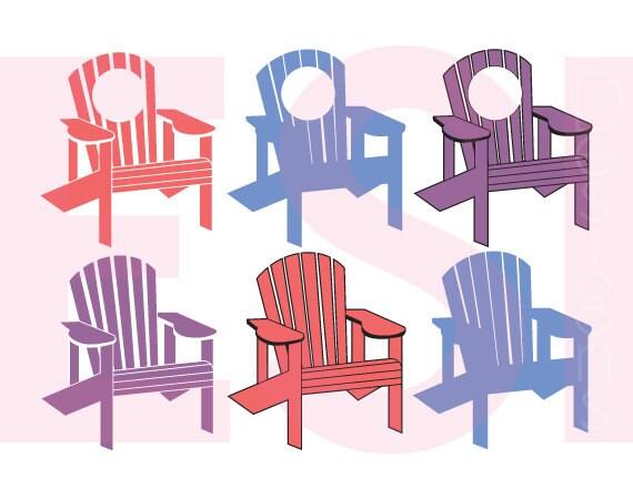 Adirondack Chair svg DXF EPS PNG Monogram svg files Summer svg