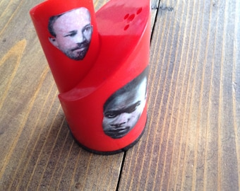 Frantz Fanon W.E.B. Dubois Salt and Pepper Shakers FREE SHIPPING