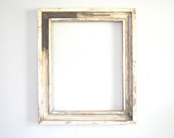 16 x 20 Window Sash Reclaimed, Chippy White Frame, Naturally Worn, Weathered, One-of-a-kind