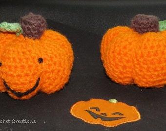 Crochet Pumpkin Amigurumi Halloween Crocheted Plush Toy