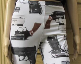 Guns Print Spandex Leggings