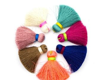 1 pcs Large Cotton Tassel Long Tassels, Bohemian Luxe Tassel, Fashion Jewelry Making Supply, Mala Tassel D-3-298