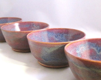 Blue, Maroon and Purple Ceramic Bowl