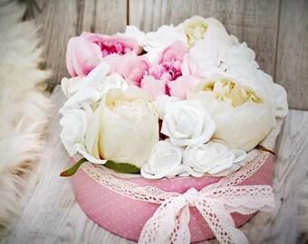 Flowers in a box,flower box,artifical flower,special gift