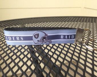 Oakland Raiders Inspired Keychain Wristlet